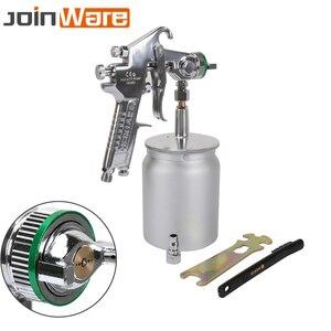 600cc pistola de pulverización de pintura ambiental profesional pulverizador pintura atomizador mano aire herramienta con tolva pintura coches nuevo