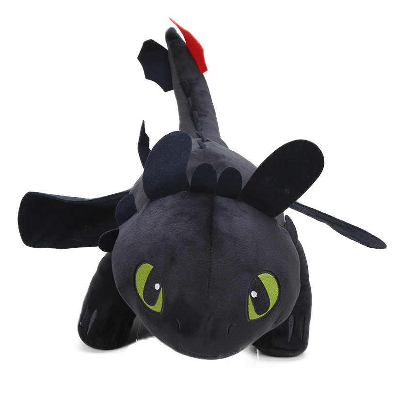 25 cm 33 cm Conjunto de 3 2 Como treinar O Seu Dragão Desdentado Fúria Da Noite Toy Plush Macio Branco dragão de Pelúcia Animais Brinquedos de Pelúcia Juguete