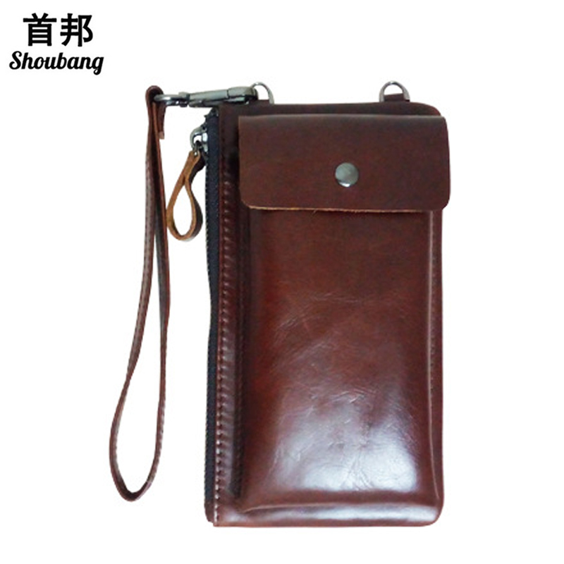Genuine Leather Men Wallet Vintage Zipper Clutch Wallet Male Purses Large Capacity Men's Wallets high quality men genuine leather clutch men wallets vintage wallet male purses large capacity men s wallets
