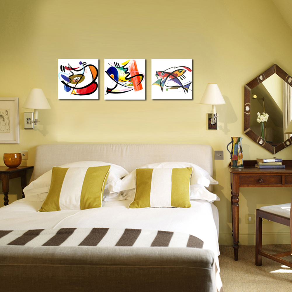 Abstract Painting Print on Canvas Fish Picture Printing Kitchen Wall ...