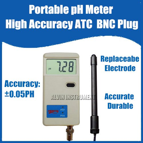 все цены на Free Shipping High Accuracy Portable pH Meter Replaceabe Electrode ATC онлайн
