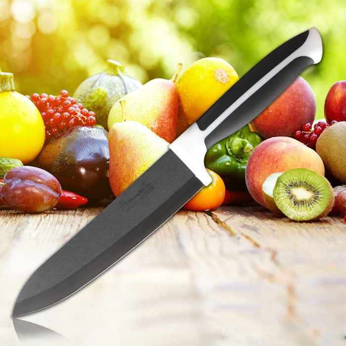 11-11 Special Offer SKJ Quality Goods Antibiotic Kitchen Black Ceramic Cutting Fruit Knife Meat Vegetable Knives