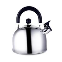 Утолщение большой емкости нержавеющая сталь чайник со свистком горшок бутылку воды 2L 2.5L 2.3L