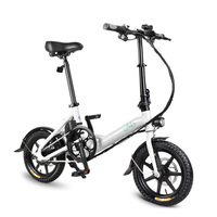 FIIDO D3 Folding Electric Bicycle  14 Inch Tire  25KM/H 7.8AH Battery  Outdoor Travel Riding Folding Adult Electrical Motorbike   -