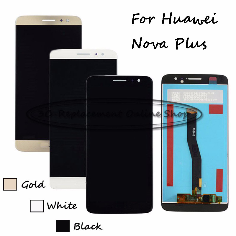 Black/White/Gold For Huawei Nova Plus TD-LTE MLA-L11  MLA-L02 MLA-L12 LCD Display + Touch Screen Digitizer Assembly Replacement