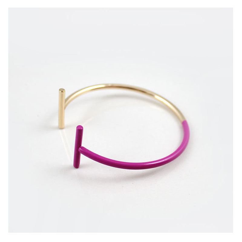 Galleria fotografica 4 Color <font><b>T</b></font> End Open Cuff Station Bracelet Bangle Boutique Women Costume Jewelry <font><b>Gold</b></font> Silver Color