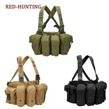 Free Shipping Tactical Chest Rig AK 47/74 Magazine Carrier Combat Vest Tactical Military Camouflage Vest(China)