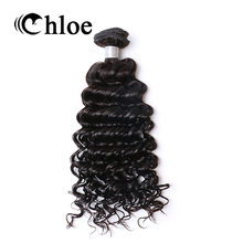 Chloe Brazilian Deep Wave Remy Hair Natural Color 100% Human Hair Bundles 8-30 inch Free Shipping