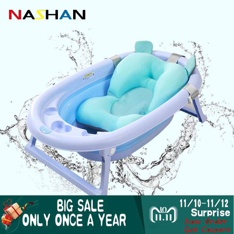 Foldable Newborn Baby Bath Tub Baby Float Bath Mat Seat Bionic Design Antiskid Bathing Net Bed/Chair Baby Infant Shower Bath Pad цена 2017