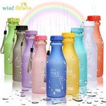 Wind flower Fashion Unbreakable Water Bottle Plastic Portable Sports BPA Free