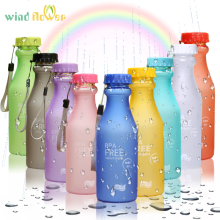 Wind flower Fashion Unbreakable Water Bottle Plastic Portable Sports W