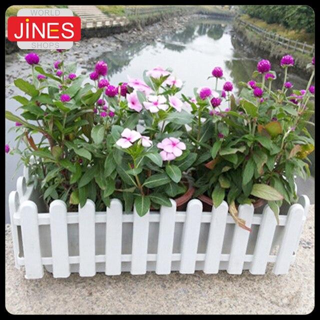 Us 14 99 Persegi Panjang Plastik Pagar Resin Sayuran Hidroponik Balkon Pot Bunga Pot Pembibitan Penggunaan Taman Plastik Tanaman Bunga Pot Di Pot