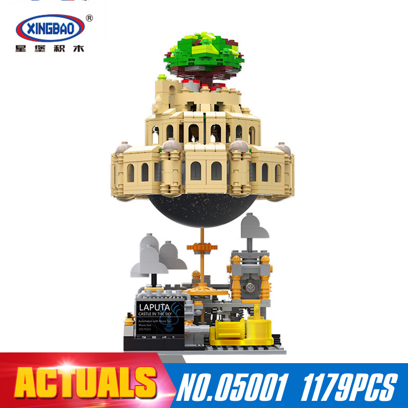 XingBao 05001 1179Pcs Genuine Creative MOC Series The City in The Sky Set Educational Building Blocks Bricks Model XB-05001 xingbao 05001 1179pcs genuine creative moc series the city in the sky set children educational building blocks bricks model gift