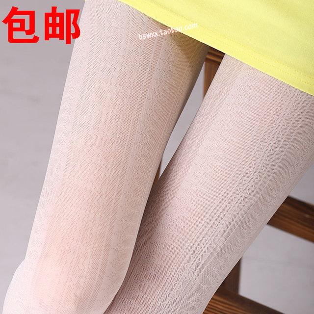 Envío gratis Japonés Corea Del Otoño párrafo brote medias de la vendimia totem era delgada pantimedias jacquard medias finas de color blanco lechoso
