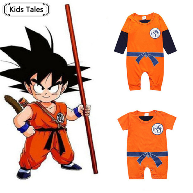 New Dragon Ball Baby Rompers Spring Summer SON GOKU Baby Boy Clothes Newborn Girls Jumpsuit Infant Toddler Clothing SR220