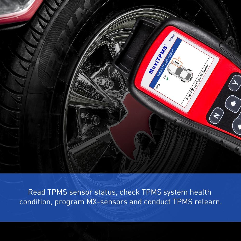Autel MaxiTPMS TS508K tire Pressure TPMS Monitoring Tool 4PCS 433MHZ + 4PCS 315MHZ Car Diagnostic Tool Automotive System Scanner