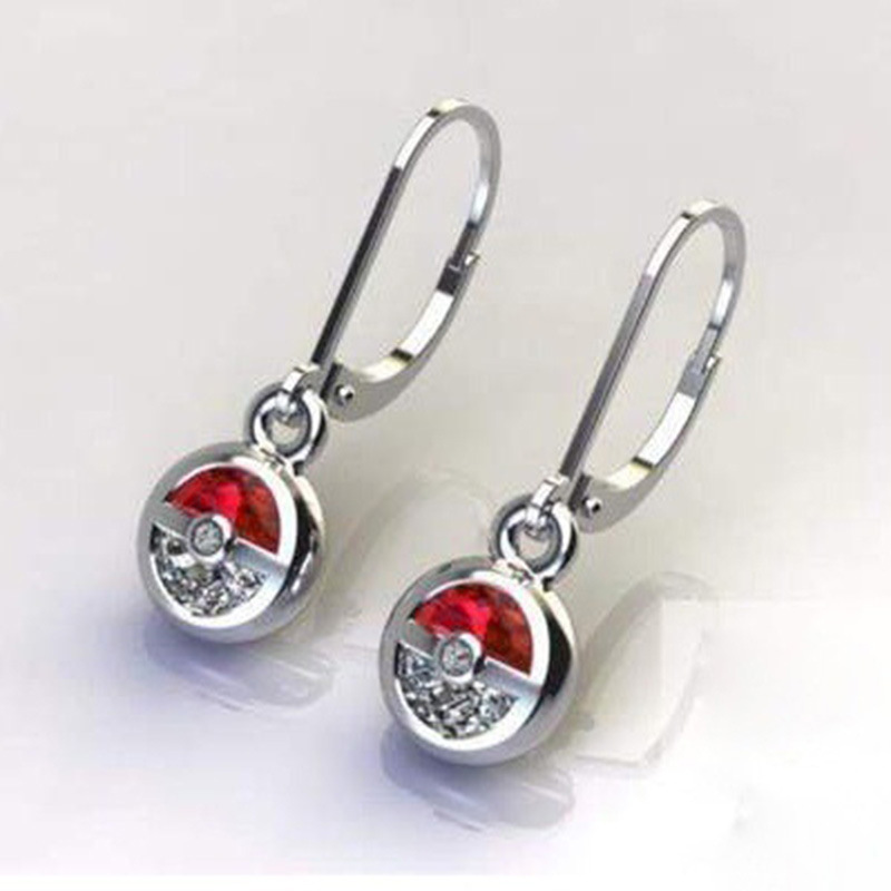 Fashion Red Clear Fairy Ball Earrings for Women Micro Pave CZ Earrings Ladies Birthday Party Engagement Gifts Accessories in Clip Earrings from Jewelry Accessories