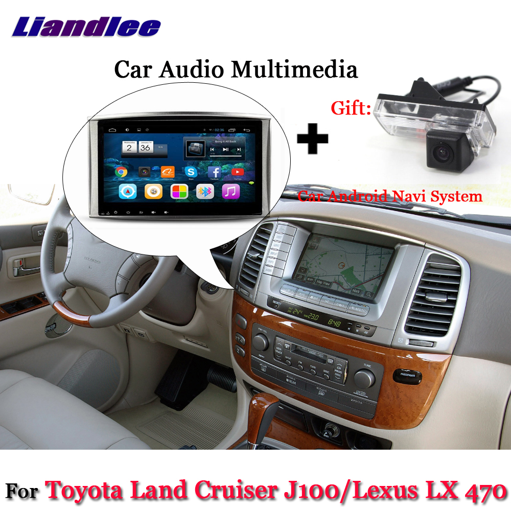 Liandlee Car Android System For Toyota Land Cruiser LC100 J100 For Lexus LX 470 Radio GPS