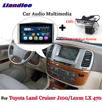 Liandlee Car Android System For Toyota Land Cruiser LC100 J100 / For Lexus LX 470 Radio GPS Nav MAP Navigation Screen Multimedia