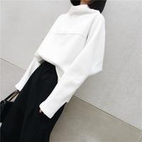 SuperAen Autumn And Winter New Korean Style Hoody Sweatshirt Girls Turtleneck Cotton Long Sleeve Hoody Sweatshirt