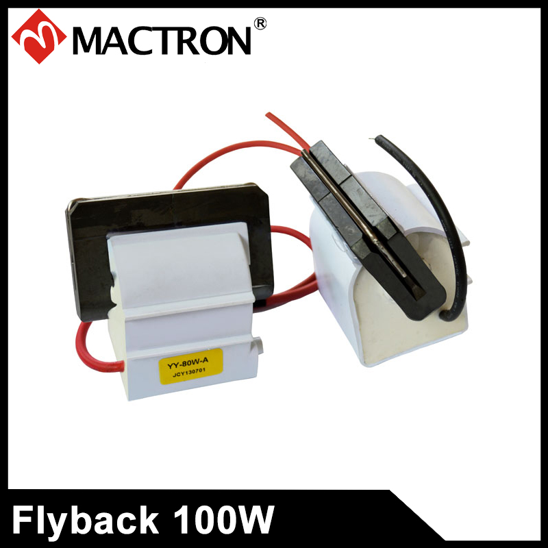 One Pair High Voltage Flyback Transformer For 100W Laser Power Supply