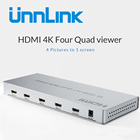 Unnlink 4X1 HDMI Multi-viewer 4K@30Hz 1080P@60Hz 4 Input 1 Output HDMI Quad Screen Multiviewer with HDMI seamless Switcher