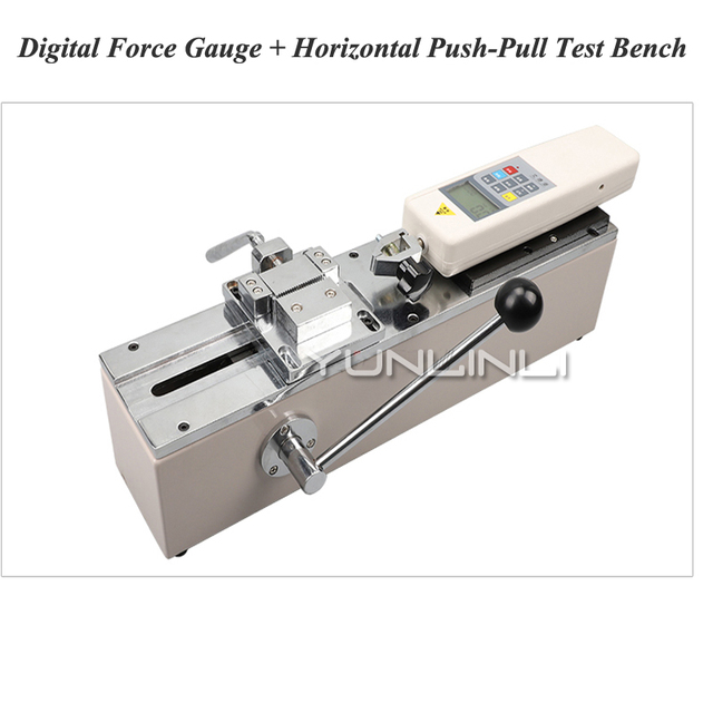 HPH Push-pull Force Meter Manual Horizontal Test Machine Test Tool Holder Terminal Harness Tensile Pull Force Test Equipment