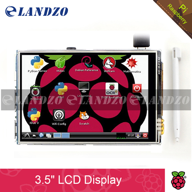 3.5 inch 26P SPI TFT LCD Display Screen with Touch Panel 320*480 for RPi1/RPi2/raspberry pi3 Board V3 (Support Raspbian System)