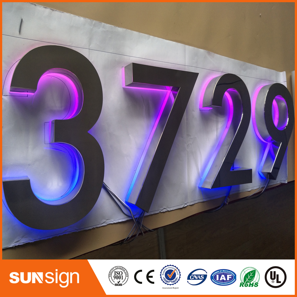 Luminous Words Acrylic Led Lighted Letter Sign On Wall For Store Business