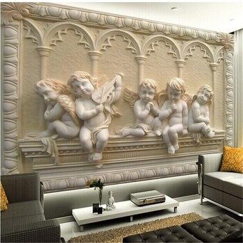 beibehang  3d mural wallpaper European style 3D stereoscopic relief jade living room TV backdrop bedroom 3d photo wallpaper цена 2017