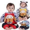 Anlencool Бесплатная доставка бренд детская одежда два шт Поза Ребенка Хлопка Долине Питти щенка зажима раздел детская одежда