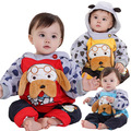 Anlencool Free shipping brand baby clothing two pcs Pose Baby Cotton Valley Pitti puppy clamping section baby clothing