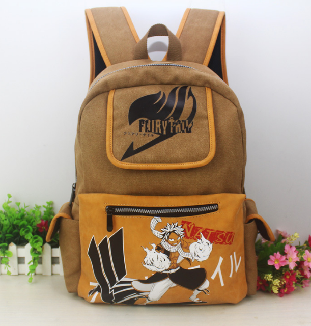 Anime Fairy Tail Backpack Student Cartoon School Bags Canvas Travel Backpacks Durable Teenager Computer Daily Bag