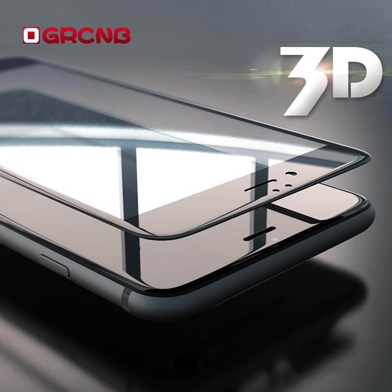 OGRCNB Phone  Accessories Store 3D полное покрытие закаленного gla S для iPhone 7 6 6 S plu S Экран протектор закаленного gla s S для iPhone 6 6 S 7 plu S 3D gla s