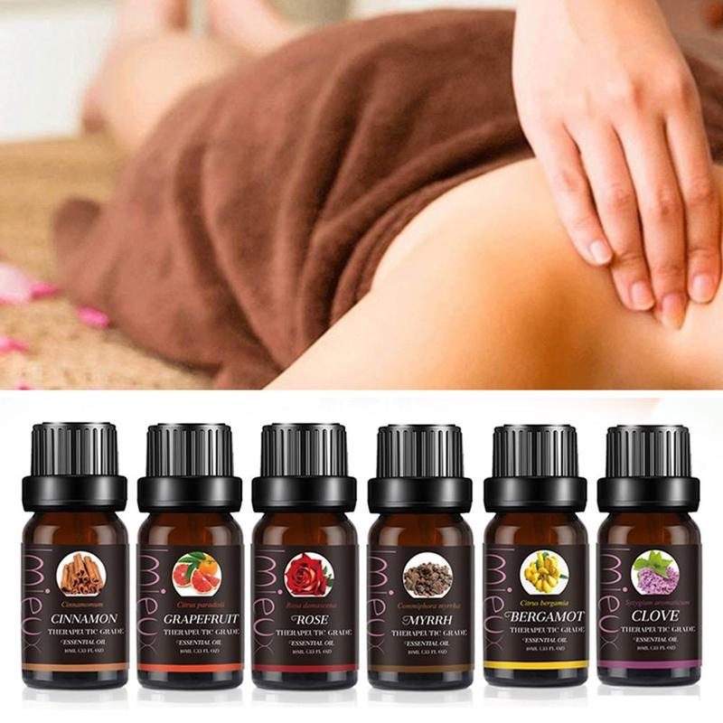 Pure Essential Oils For Organic Body Massage Relax 10ml Fragrance Oil Skin Aromatherapy Diffusers Essential Oil Vanlla Lemon 10
