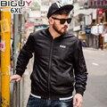 BIG GUY 2017 Spring Jacket Men Big Size Casual Mens Jackets And Coats Black Male Coat 4XL 5XL 6XL 1560