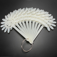 120 False Tips Nail Art Design Acrylic Polish Board Practice Rose Fan Stickers Wheel Display Polish Color Tools