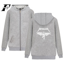 LUCKYFRIDAYF Metallica Hoodie Zipper Heavy Metal Sweatshirt Rock Band Coat Music Jacket Plus Size Women Fashion For Girls 4XL