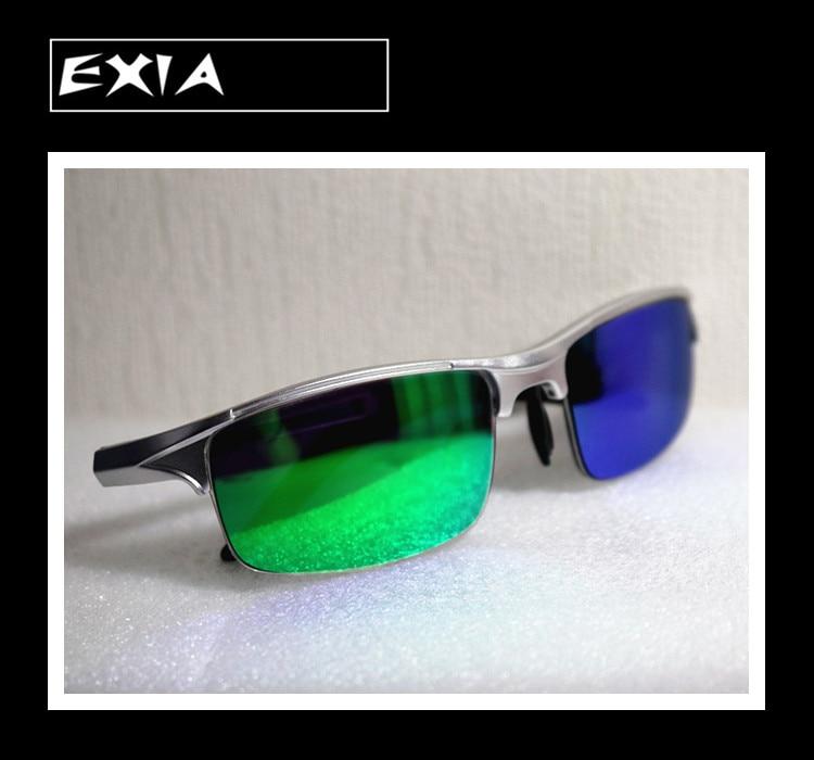 Myopia Lenses Mirror Green Colors of Men Sunglasses Polarized Single Vision EXIA OPTICAL KD-320 Series