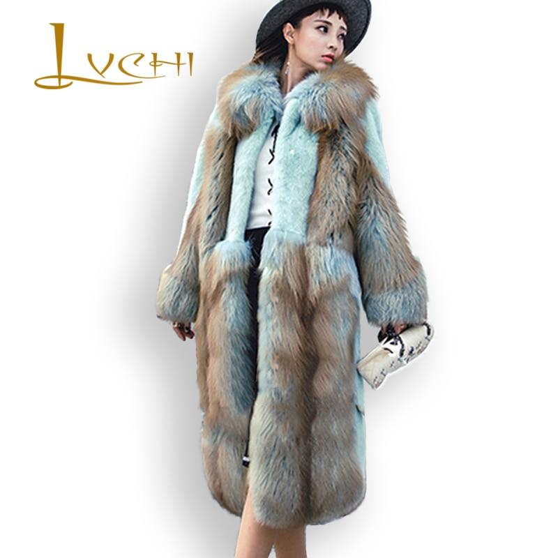 LVCHI 2019 Plus Size Չամրացված Դանիա Mink Velvet Velle - Կանացի հագուստ