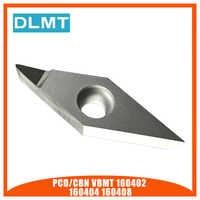 1 pièces PCD/CBN VBMT160402 VBMT160404 VBMT160408 Pointes de Diamant Polycristallin Diamants Lame Indexables Inserts