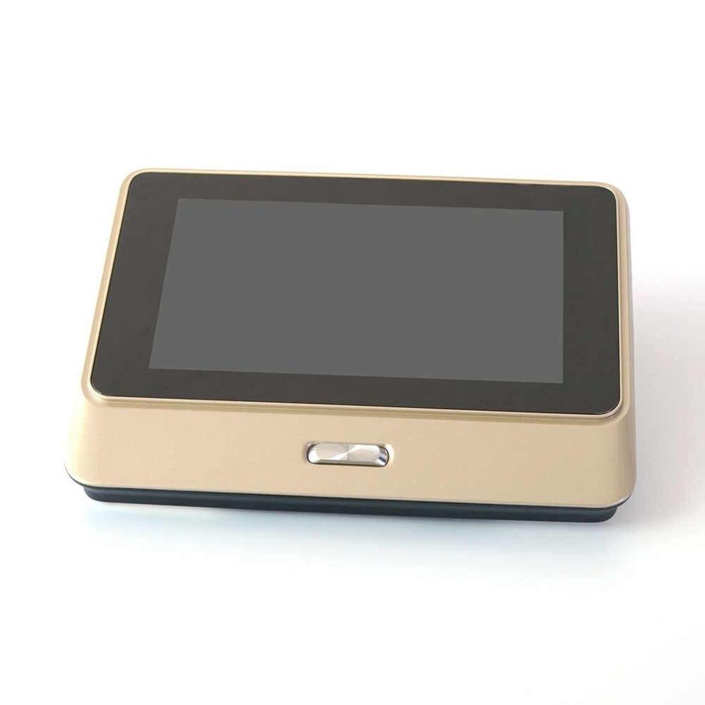 Sonnette de porte pour la maison en or WiFi   Caméra visionneuse de sécurité, caméra de Vision nocturne, capteur de mouvement, application interphone pour téléphone
