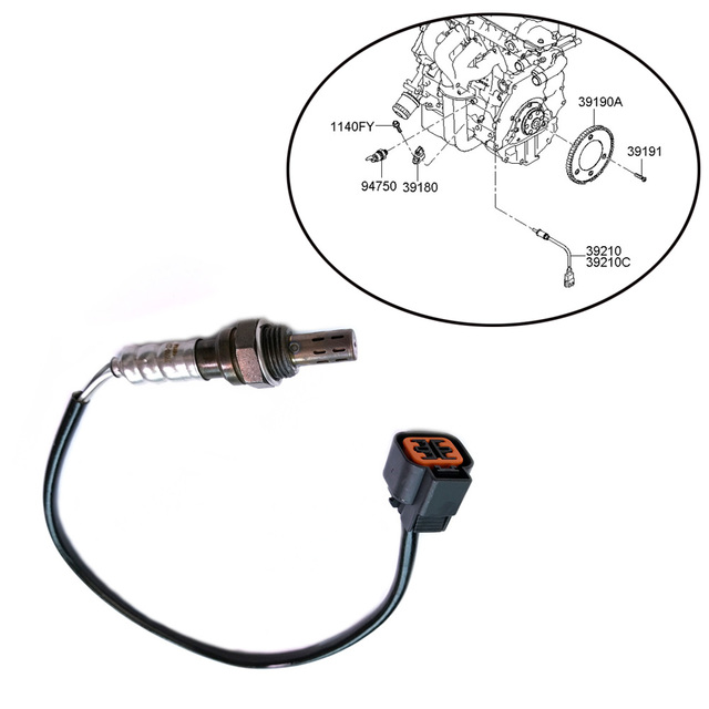 JEAZEA 3921023710 3921023750 O2 Oxygen Sensor Replacement for ... on 02 hyundai accent transmission diagram, 02 hyundai accent water pump, 02 hyundai accent timing marks, 02 hyundai accent exhaust, 02 hyundai accent parts, 02 hyundai accent valves, 02 hyundai accent heater,