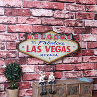 Las Vegas Neon Sign Decorative Painting Metal Plaque Bar Wall Decor Painting Illuminated Plate Welcome Arcade
