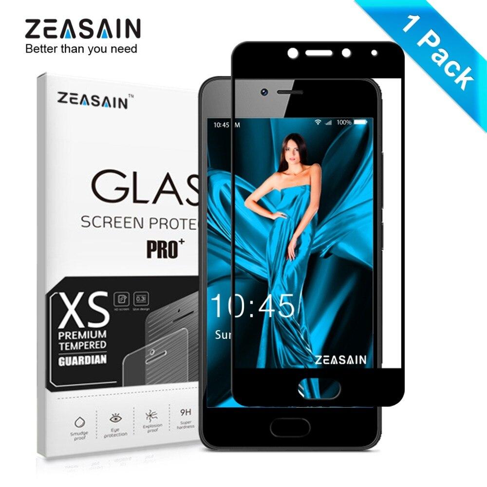 Original zeasain vidrio templado de la cubierta completa para meizu m5c M 5C meilan A5 protector de pantalla claridad HD 2.5d Vidrio Templado películas