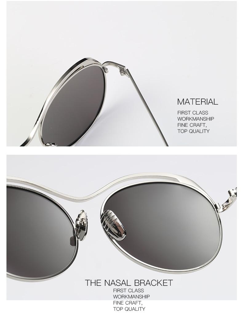 46330d2e3b WESHION Women Sunglasses Polarized Round Mirrors Retro Ladies Sun ...