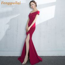 FENGGUILAI 2019 Sexy Spring and Summer Red Long Sleeve Pattern  Glitter Women Slim Maxi Elegant Party Dress FT8581-3