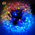 Bares Hoteles Guirnaldas Boda de la Mariposa Impermeable LED Solar Al Aire Libre Luz de la Secuencia 7 M 50LED Luces de Decoración de Cumpleaños Casamento