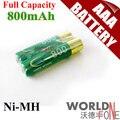 4x bty genuino de la capacidad plena 800 mah batería aaa 1.2 v ni-mh batería recargable-un 4 unids/lote
