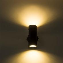 10 Вт современный светодиодный уличный настенный светильник Открытый водонепроницаемый настенный Бра Лампа вверх и вниз лестница коридор led крыльцо огни